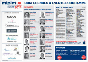 MIPIM UK 2014 Conference programme