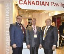 Canada in Cannes: Ken Hewitt of Haldimand County (left) with Robert Wilhelm of Perth County and Roger Anderson of the Muni