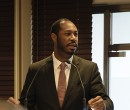 Antwaun Griffin deputy assistant secretary for US operations at the International Trade Administration, speaking at a breakfast to highlight US investment opportunities to the international market