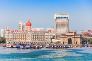 Taj Mahal Hotel and Gateway of India © saiko3p/GettyImages
