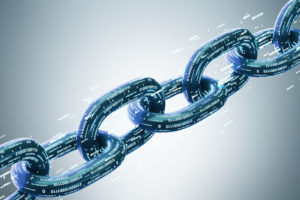 Diagonal chain, a blockchain concept, gray © ismagilov/GettyImages