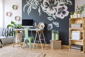 Home workspace with chalkboard © KatarzynaBialasiewicz/GettyImages