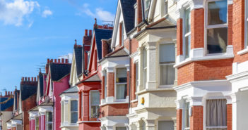 Typical English terraced houses