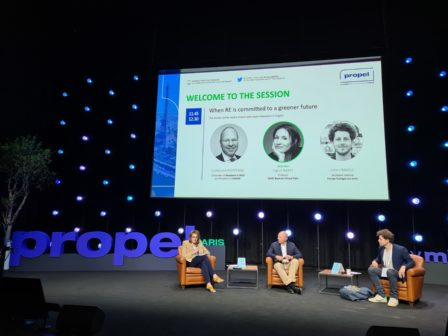 When RE is committed to a greener future Guillaume Poitrinal Cofounder of Woodeum & WO2 and President of ICAMAP --- Ingrid Nappi Professor, ESSEC Business School Paris --- Julien Bayou Secretary General, EELV Propel by MIPIM Paris