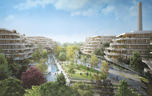 Arboretum: the new, 125,000 m2 timber office campus being developed in western Paris. ©Architects François Leclercq & Laisné Roussel/BNP Paribas Real Estate/WO2