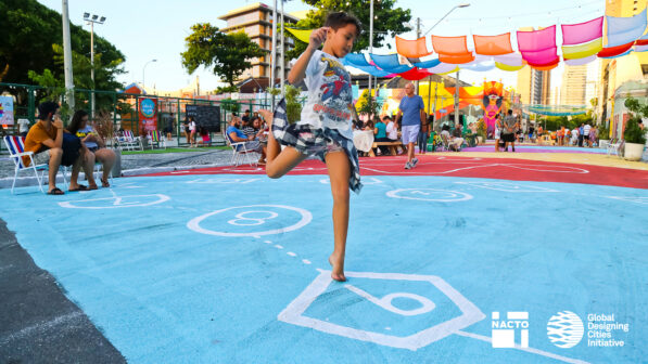 A children's play area in Fortaleza, Brazil, one of the case-study cities in 'Designing Streets for Kids' ©NACTO-GDCI
