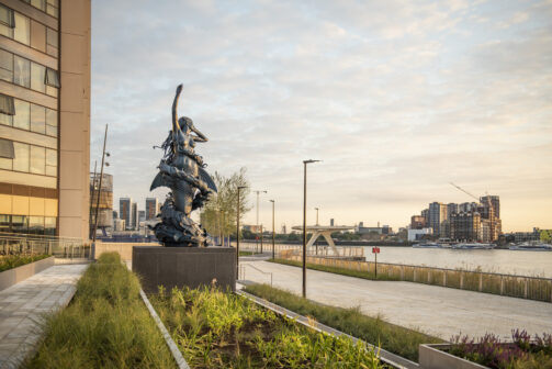 The Mermaid by Damien Hirst, part of the art trail at Greenwich Peninsula ©Charles Emerson