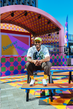 Artist Yinka Ilori bringing colour to Greenwich Peninsula this summer